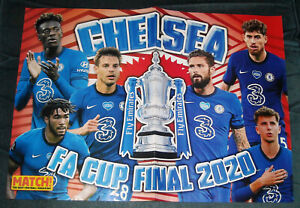 details about match poster 2020 chelsea fa cup final 2020