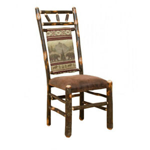 dining chairs overstock swinging lounge chair rustic hickory inventory pick up in image is loading