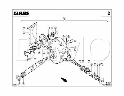 Claas Variant 280/RC Spare Parts Catalogue, Original