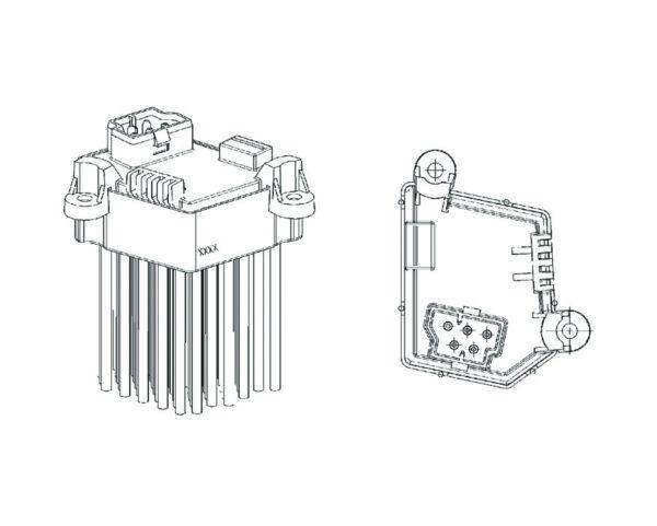 HVAC Blower Motor Regulator-Behr Service HELLA 351321191