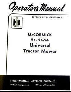 IH McCormick Farmall #27-VA Universal Mount Rear Sickle