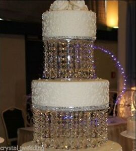 Crystal Wedding Cake Stand 3 Crystal Designs Sizes 6