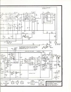 SHERWOOD SCHEMATIC: MODEL S-7600a 100 WATT AM/FM STEREO