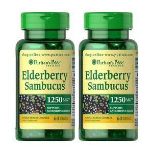 Elderberry Sambucus Supports Antioxidant Health 1250 mg 2 ...