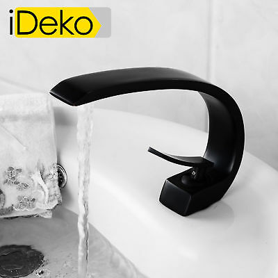 robinet lavabo moderne robinet salle de bain noir mitigeur ebay