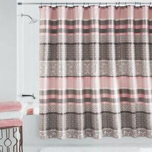 details about us mainstays princeton jacquard fabric shower curtain damask blush taupe bath