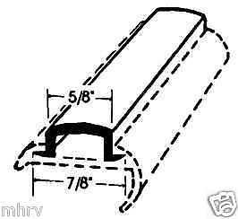 Quality 25' Black RV Marine Camper Vinyl Insert Trim Mould