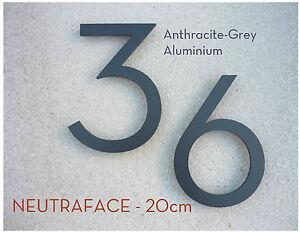 details sur neutraface anthracite aluminium maison numero paire 20cm rapide