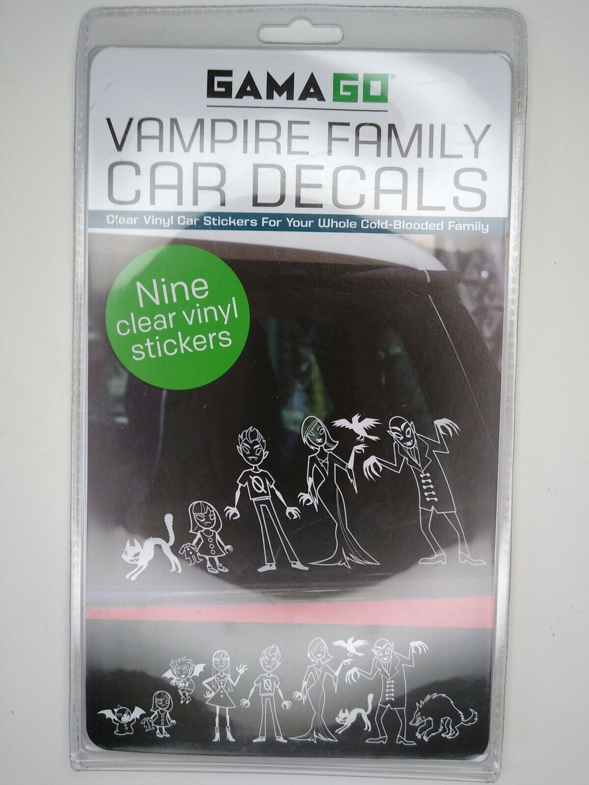 What Kind Of Vinyl For Car Decals : vinyl, decals, Vampire, Family, Clear, Vinyl, Window, Decals, GAMAGO, Online