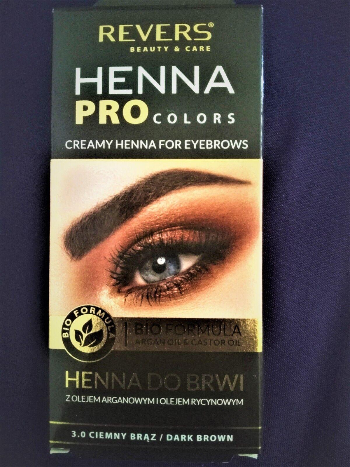 Argan Oil Eyebrows : argan, eyebrows, Formula, Revers, Argan&castor, Brown, Henna, Eyebrows, Colour, Online
