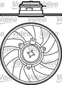 VALEO Radiator Condenser Cooling Fan Fits SAAB 9-3 Wagon
