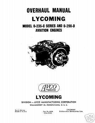 Lycoming O-235-C series & O-290-D Overhaul Manual Part