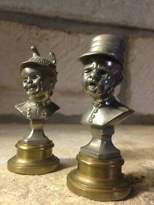 Jean Qui Rit Jean Qui Pleure : pleure, Bustes, Bronze, Casque, Cavalerie, Pleure, Képi, Infanterie