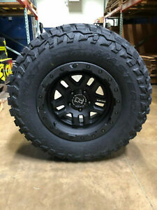 33 Tires On 17 Rims : tires, Black, Rhino, Barstow, Wheels, Tires, Package, Wrangler