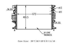2013 Ford Fusion 1.6L 2.0L Radiator w/o Transmission Oil