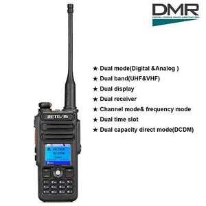 RetevisRT82 UHF+VHF Digital DMR WalkieTalkie Waterproof
