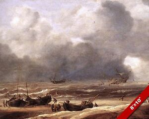 shipwreck in stormy seas painting