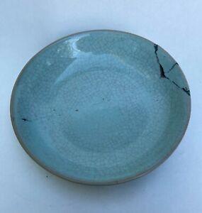 ASIAN CHINESE BLUE GLAZED KILN RU PORCELAIN PLATE BOWL CHINA OLD FRAGME CERAMIC