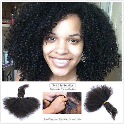 Braid In Bundles Brazilian Afro Kinky Curly 100 Virgin Human Hair