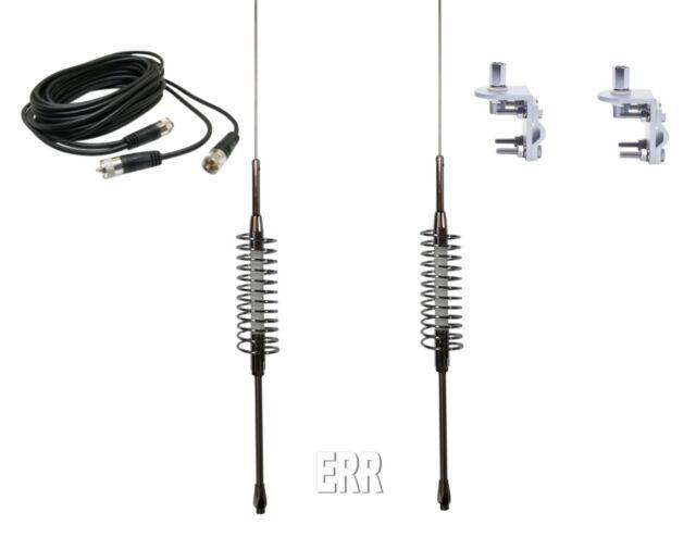 DUAL TRAM SP 63 CB,HAM RADIO ANTENNAS,DUAL 12FT RG59 COAX
