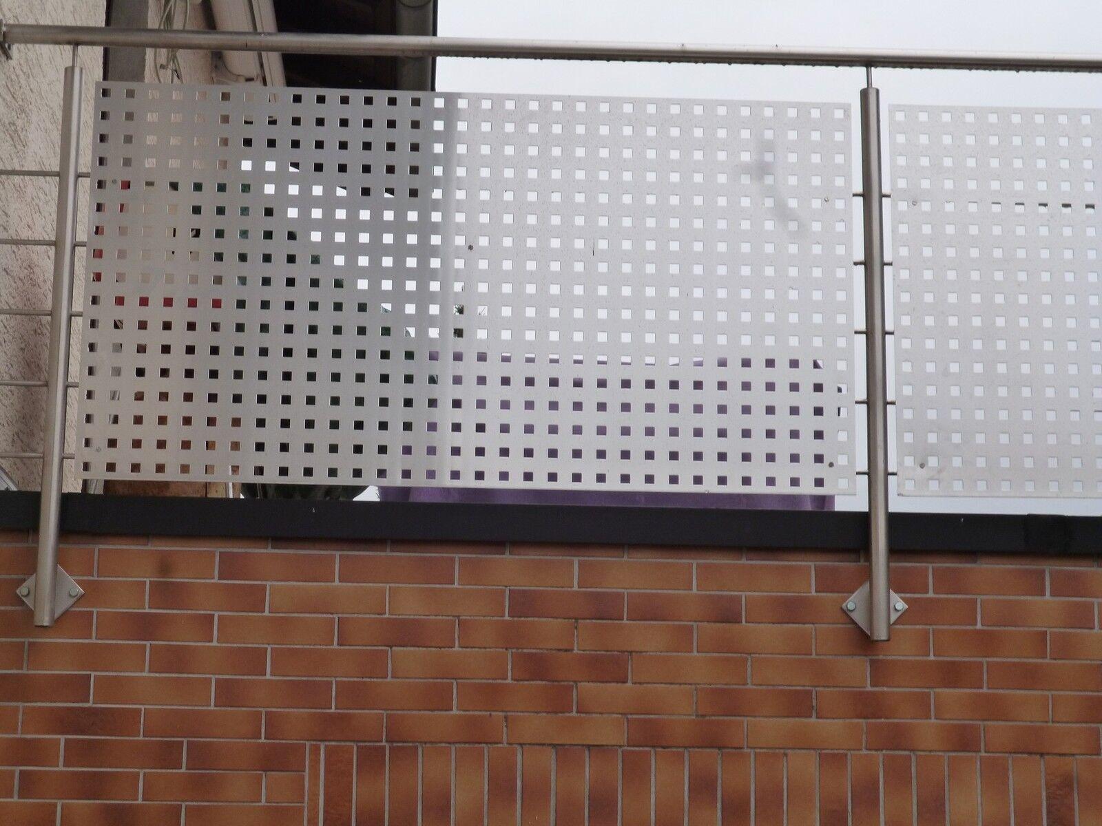 Balkonverkleidung Aluminium Lochblech Balkon Sichtschutz