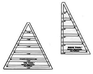 Tri Recs Triangle Rulers by Darlene Zimmerman for EZ
