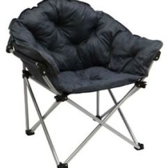 Padded Camping Chair Kidkraft Farmhouse Table And Set Espresso Outback Folding Club Camp Most Comfortable Roomy Strong Image Is Loading