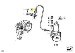 New Genuine BMW e36 z3 ACS Accelerator Cable Secondary