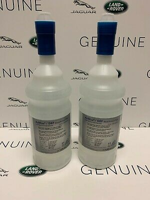genuine jaguar land rover vw adblue diesel exhaust fluid def x2 top up bottles 4046934000149 ebay