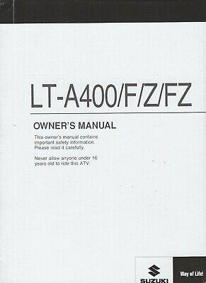 2014 SUZUKI ATV LT-A400/F/Z/FZ OWNERS MANUAL 99011-27H56