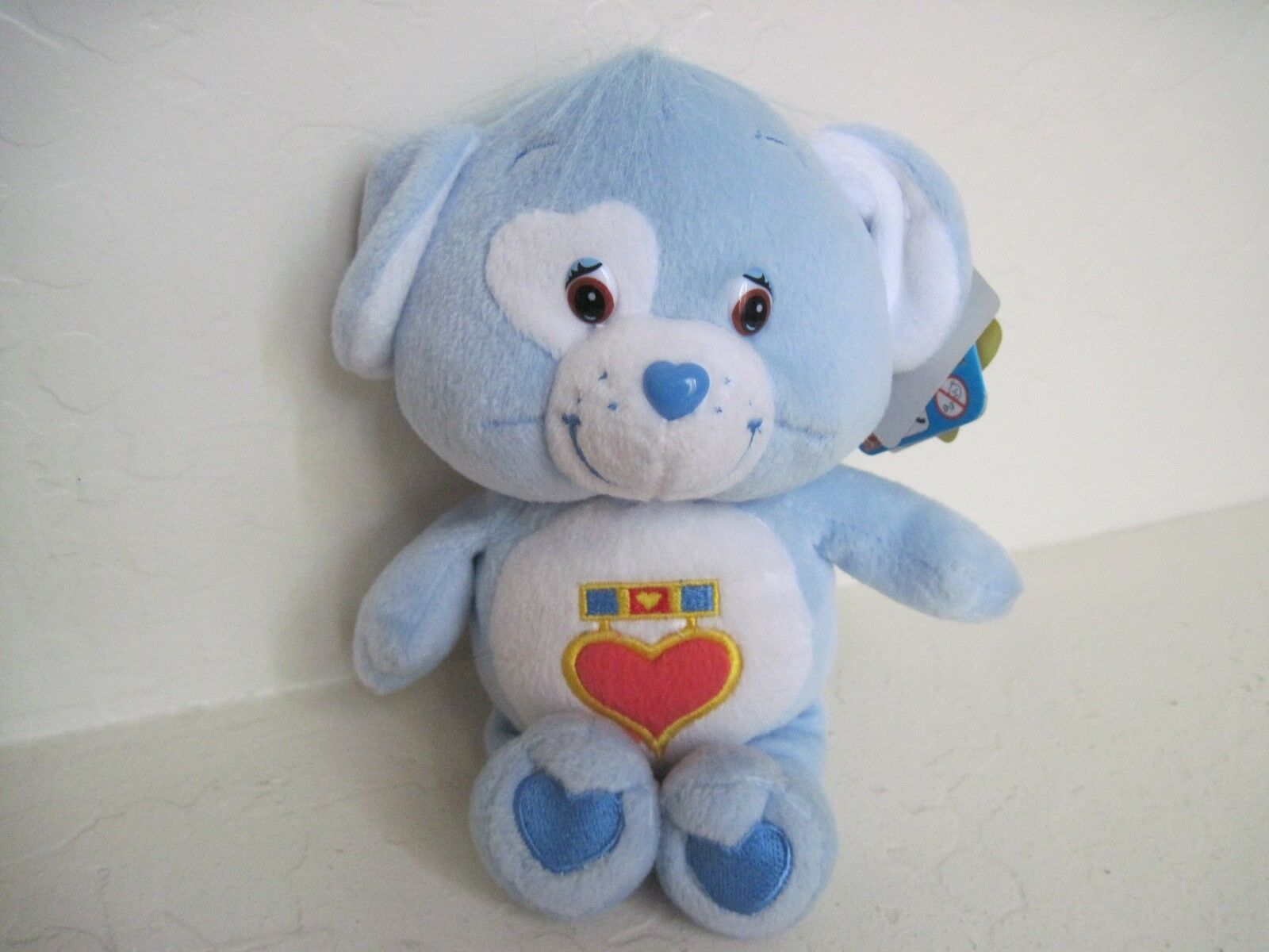 neal sofaworks teddy american made chesterfield sofa care bear cousins loyal heart dog 9 plush light stuffed animal blau 82044e