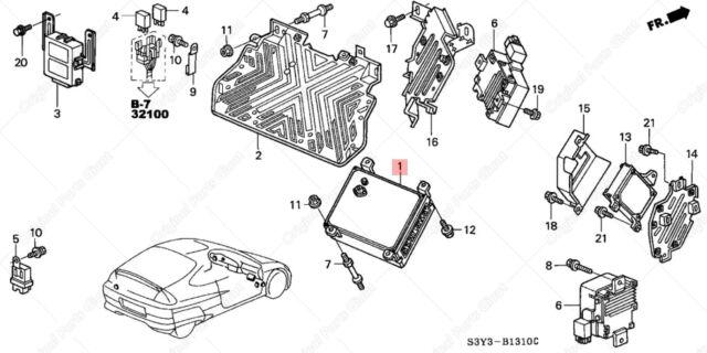 2000 Honda Insight Manual Electronic Engine Control Unit