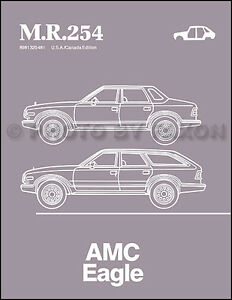 AMC Eagle Body Repair Manual 1984 1985 1986 1987 1988