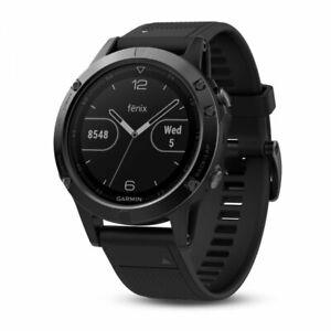 Garmin fenix 5 Black Sapphire with Black Band Multisport GPS Watch 010-01688-10