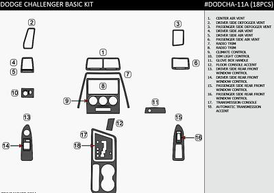DODGE CHALLENGER SXT SE R/T SRT8 2008- 2014 INTERIOR SET