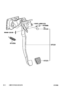 Brake Pedal for 2007 to Current 71, 76, 78 and 79 Series
