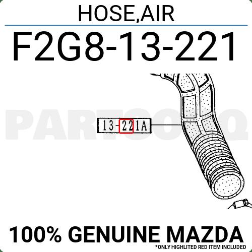 Mazda B2200 & B2600 Factory EFI AFM to Pipe Intake Hose