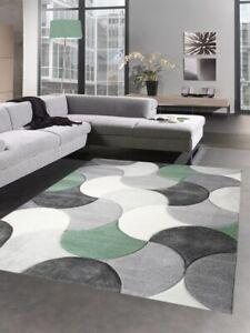 details sur tapis de salon design tapis court pile gouttes gris vert beige
