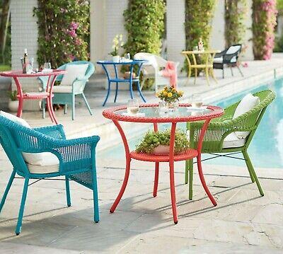 3 piece multi color resin wicker bistro patio set outdoor home furniture garden ebay
