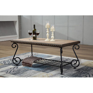 details about design industrial style coffee sofa table 2 shelf tea side table metal frame