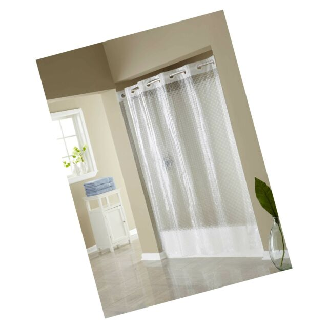 focus products rbh14fu430 hookless eva shower curtain clear diamond 71in x 74in