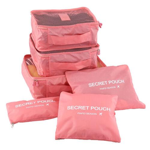 6pcs-Set-Waterproof-Clothes-Storage-Bag-Packing-Cube-Travel-Luggage-Organizer-US