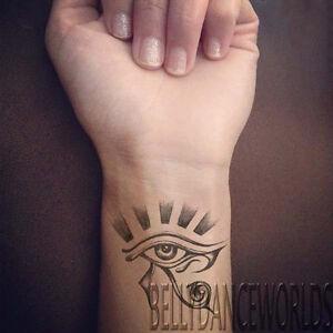 1 Pair Egyptian Eye Of Horus Eye Of Ra Temporary Tattoo Tribal Wrist