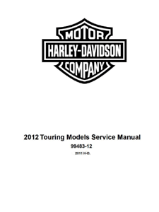 2012 Harley Davidson Street Glide FLHX FLHXSE3 Service