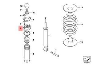 Genuine BMW Rear Suspension Spring Strut Guide Support E46