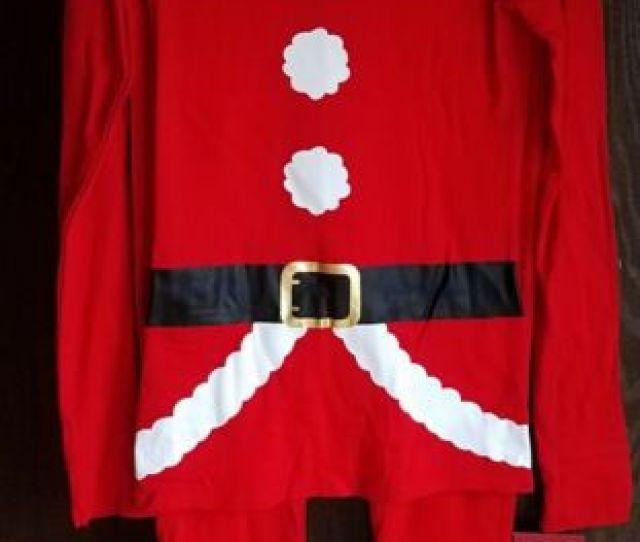 Nwt Wondershop Target Womens Red White Santa Christmas Pajamas Xs Or Sm Or Med
