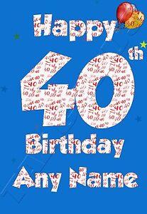 Husband 40th Birthday Card : husband, birthday, Personalised, Birthday, Husband,, Brother,