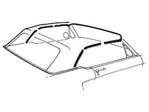 Mustang Convertible Top Weatherstrip Kit 5 Pieces 1964