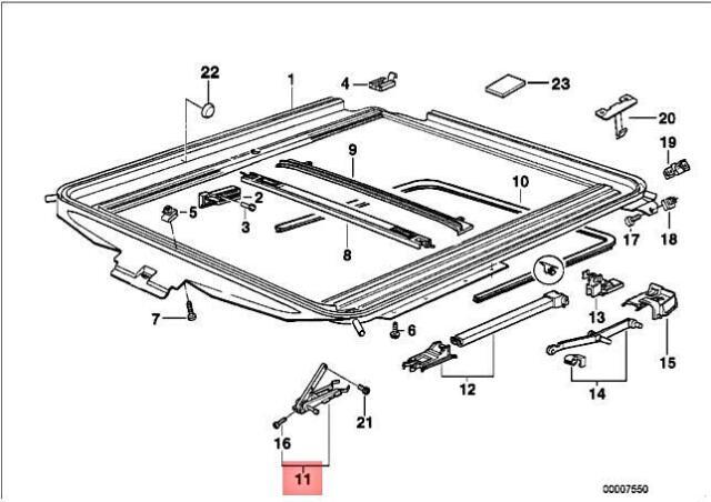 Genuine BMW E36 316g 316i 1.6 1.9 318i 318is Sliding Piece