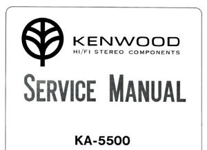 KENWOOD KA-5500 SERVICE MANUAL BOOK IN ENGLISH STEREO